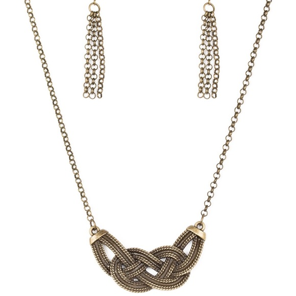 Nautically Naples - Brass Necklace